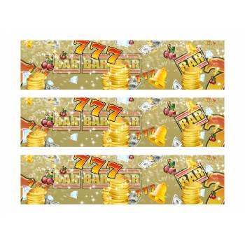 3 Bandes de gâteaux sucre décor casino