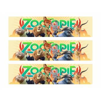 3 Bandes de gâteaux sucre zootopie