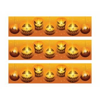 3 Bandes de gâteaux sucre Halloween lanterne