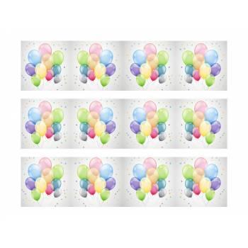 3 Bandes de gâteaux sucre décor Ballons