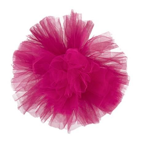Pompon tulle uni pastel à suspendre Diamètre: 30 cm Coloris: Fushia
