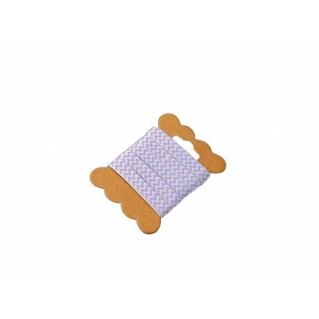 Ruban chevrons lavande Bobine de 5 mètre Largeur: 1 cm