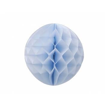 Boule papier alvéole bleu ciel
