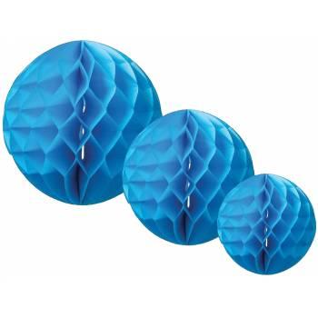 3 Boules alvéolées Turquoise