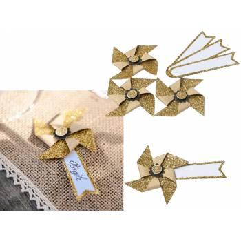 4 Marques place moulins kraft et or