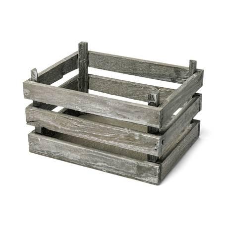 Cagette en bois décorative Dimensions : 20 cm x 15 cm x 11 cm