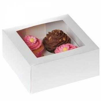 2 boite de 4 cupcakes avec insert