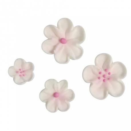 36 Mini fleurs en sucre blanchespour décorer vos cupcakes, glaces, gâteaux, cakepops... Dimensions : Ø2cm