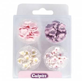 100 mini fleurs en sucre assortis