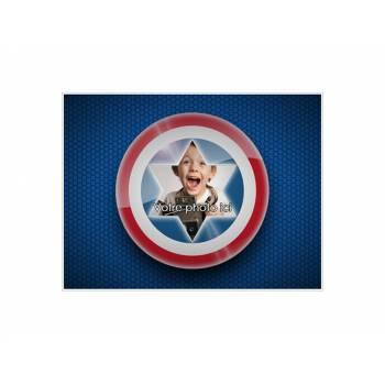 Décor sur sucre A4 Capitaine America à personnaliser