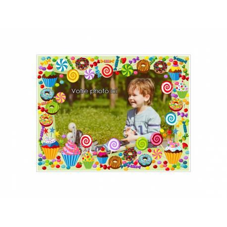 Feuille de sucre au format A4 imprimée avec de l'encre alimentaire pour décorer vos gâteaux d'anniversaires. Taille A4 USA ( 21 cm x 27...