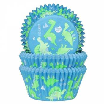 50 Caissettes cupcakes dino