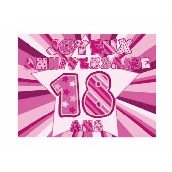 Décor sur sucre 18 ans Rose A4