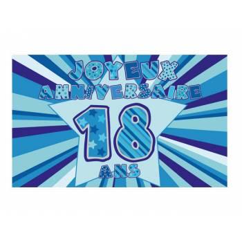 Décor sur sucre 18 ans Bleu A3