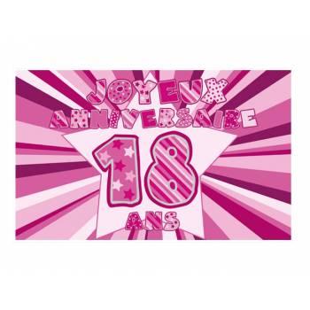 Décor sur sucre 18 ans Rose A3