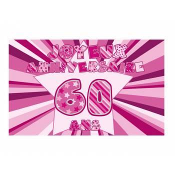Décor sur sucre 60 ans Rose A3