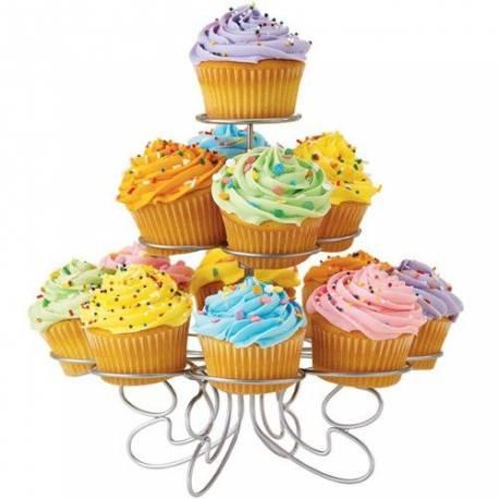 Présentoir 13 cupcakes wilton. Idéal pour présenter vos cupcakes décorés, muffins ou autres gâteaux présentoir de 3 étages. design...