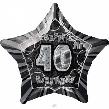 Ballon star noir 40 ans