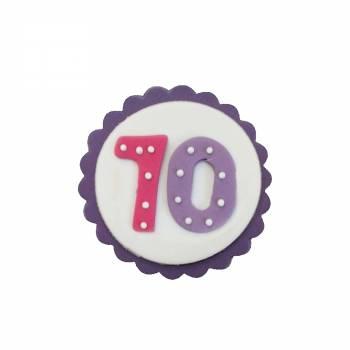 plaque en sucre 70 ans