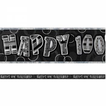Banderole 100 ans Black/White