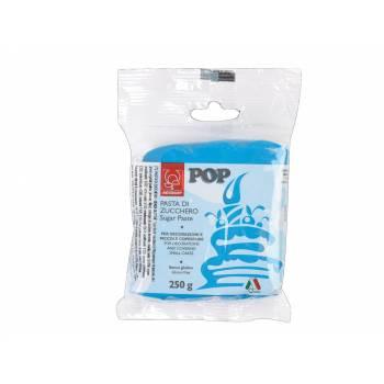 Pâte à sucre bleu cyan POP 250gr