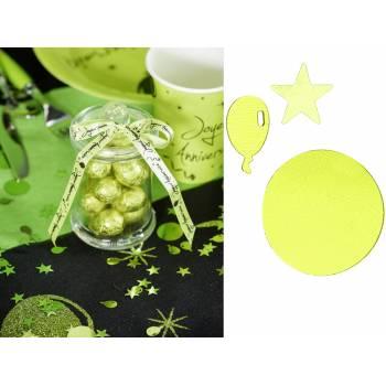 Confettis Joyeux anniversaire vert