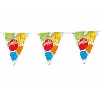 Guirlande fanions birthday Ballons confettis