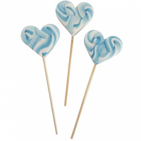 10 Sucettes foraines coeur pour vos candy bar, goûter d'anniversaire et mariage Colorants et arômes naturels Couleur: bleu Goût :...