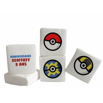 Guimize Giant décor Pokeball texte