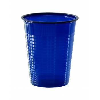 50 Gobelets en plastique eco bleu marine
