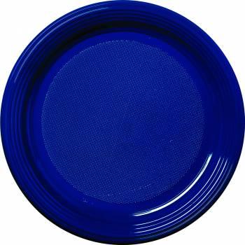 30 Assiettes plastique eco bleu marine