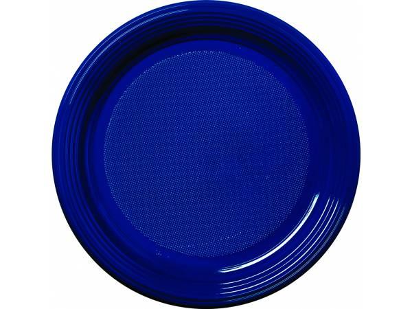 vaisselle jetable assiettes en plastique bleu marine. Black Bedroom Furniture Sets. Home Design Ideas