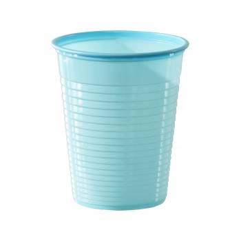 50 Gobelets en plastique eco bleu pastel