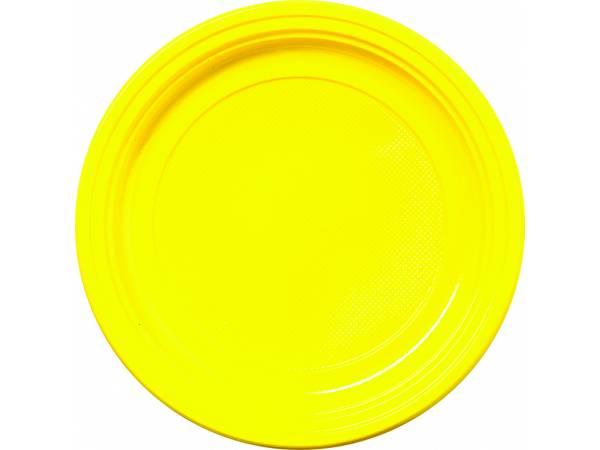 vaisselle jetable assiettes en plastique jaune. Black Bedroom Furniture Sets. Home Design Ideas