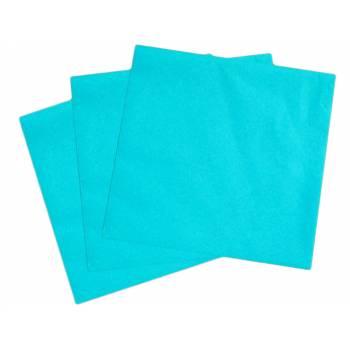 50 Serviettes non tissé turquoise