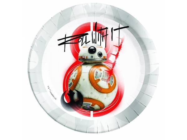 Assiettes en carton Star Wars Last Jedi BB8