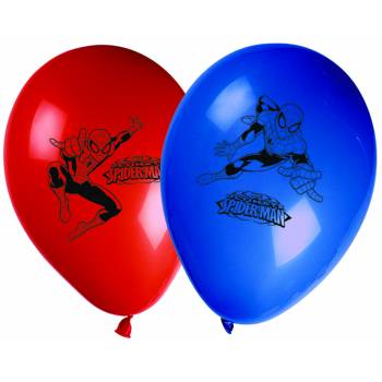 8 Ballons imprimés Ultimate Spiderman