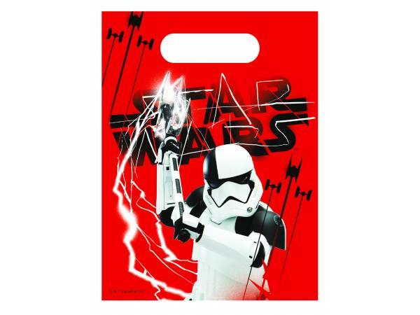 Sachets de fête en plastique Star Wars Last Jedi