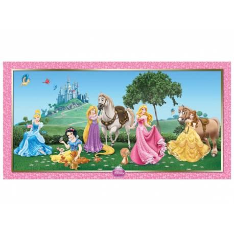 Fresque murale plastifiée Princesses Disney Dimensions : 150 cm x 77 cm