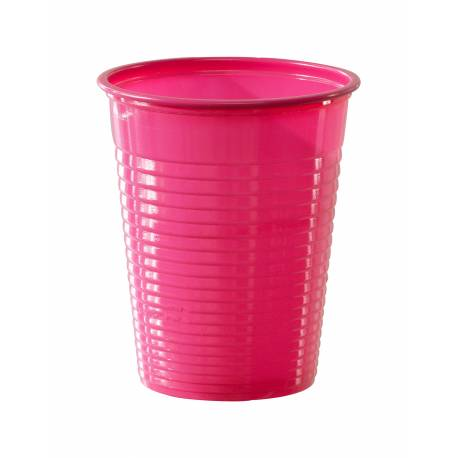 50 Gobelets en plastique fuschia 20 cl