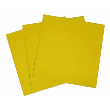 Paquetde 50 serviettes jaune intissé pour decorer vos tables de fêtes. Dimensions: 40 cm x 40 cm