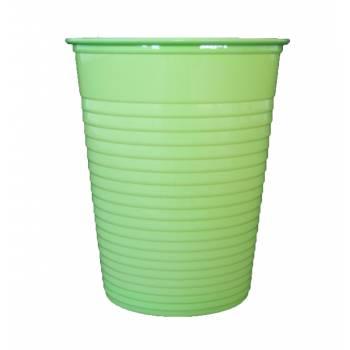 50 Gobelets en plastique eco vert anis