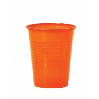 50 Gobelets en plastique eco orange