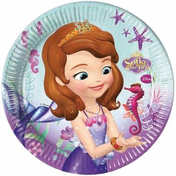 8 Assiettes Princesse Sofia sirène