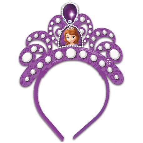 4 tiares en plastique Princesse Sofia