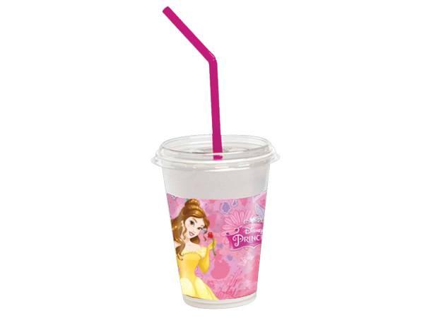Anniversaire princesses disney gobelets avec pailles en plastique princesses disney - Deco avec gobelet plastique ...