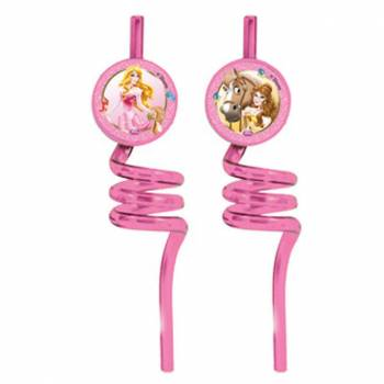 2 Pailles tourbillons Princesses Disney
