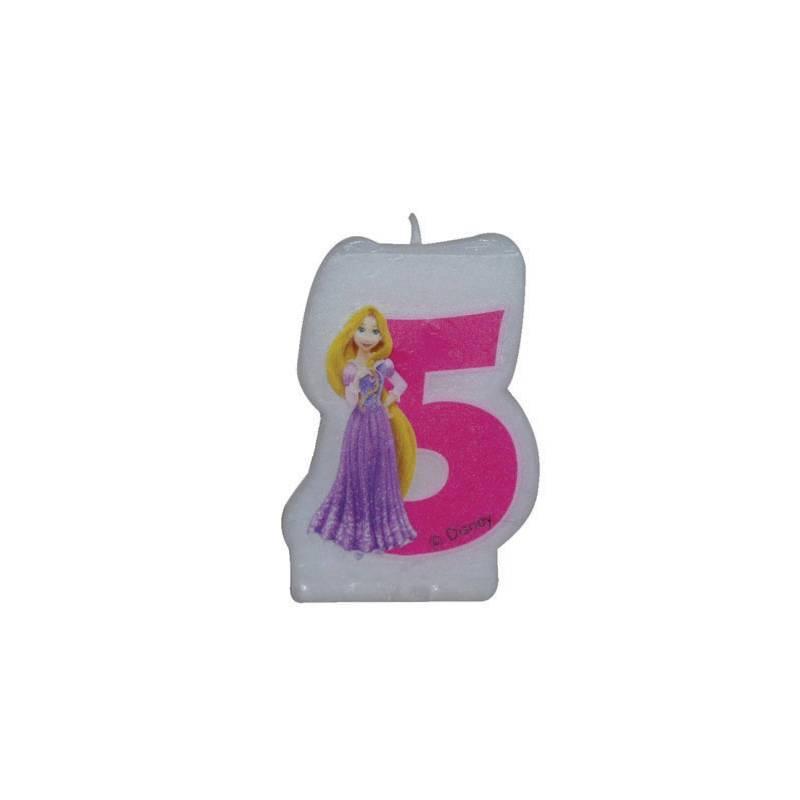 bougie anniversaire chiffre princesse disney n 5 pour deco. Black Bedroom Furniture Sets. Home Design Ideas
