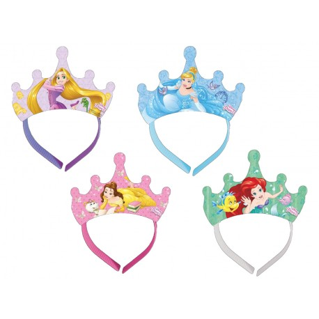 4 Tiares assortis Princesses Disney