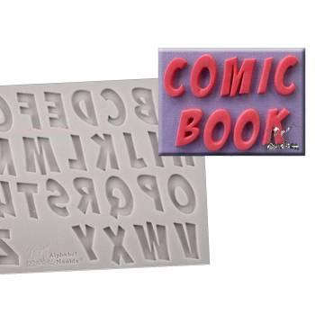 Moule a modelage alphabet comics